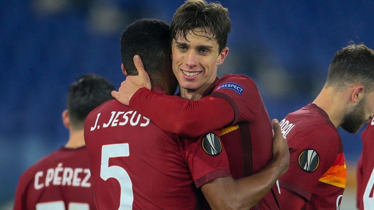 Riccardo Calafiori - Roma-Young Boys - Europa League 2020-2021 - Getty Images
