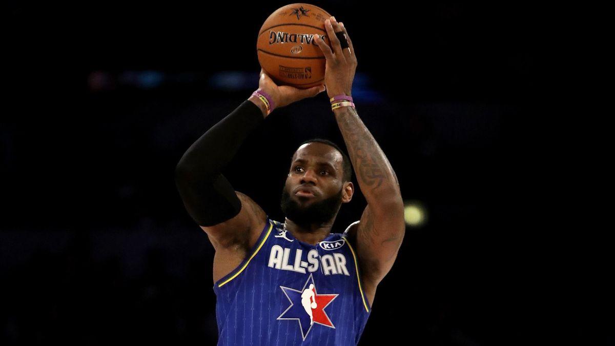 LeBron James all'All Star Game NBA 2020