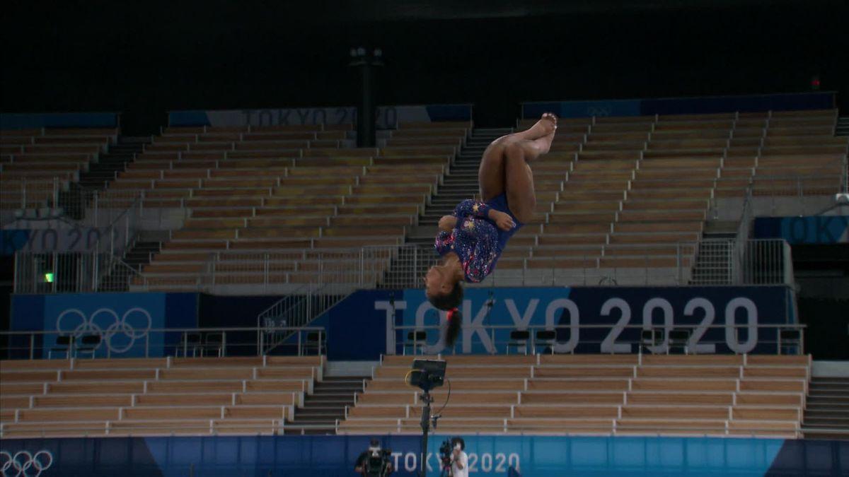 Tokyo 2020 | Oefening Simone Biles op vloer