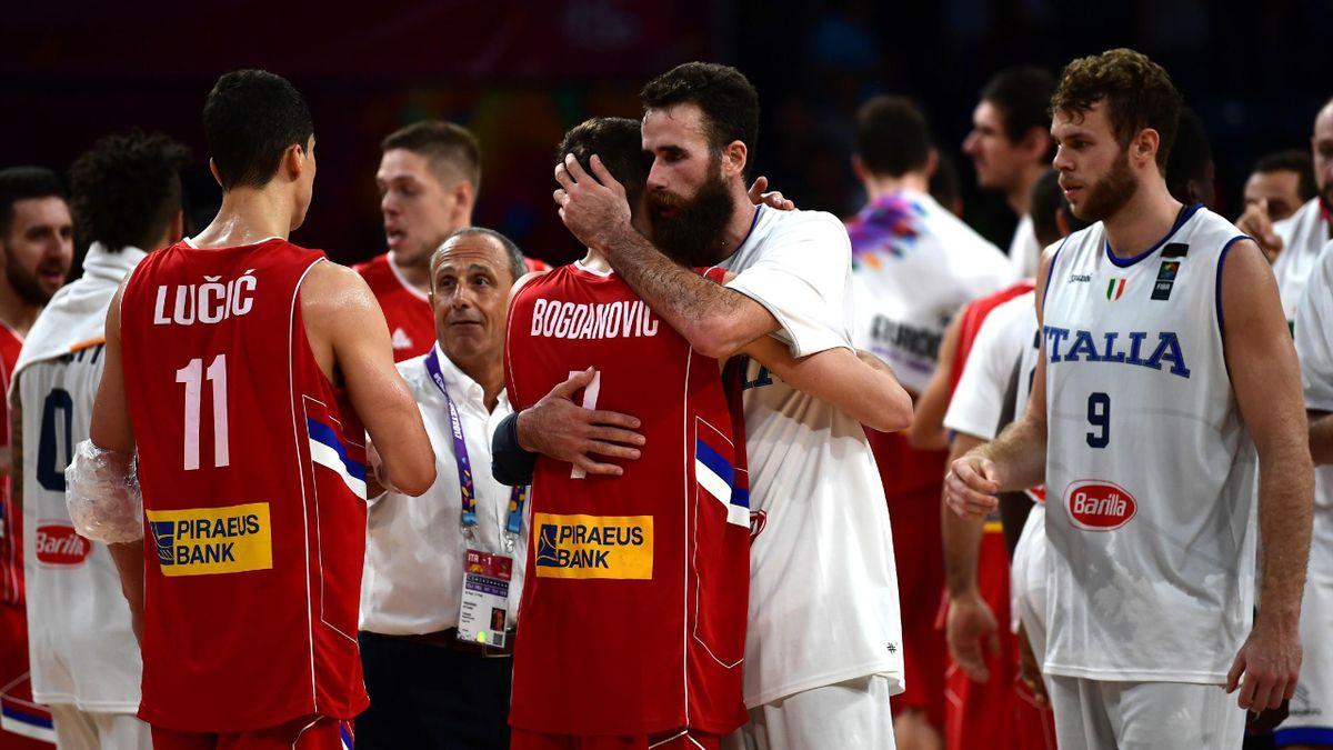 Luigi Datome, Bogdan Bogdanovic, Italia-Serbia, Basket, Getty Images