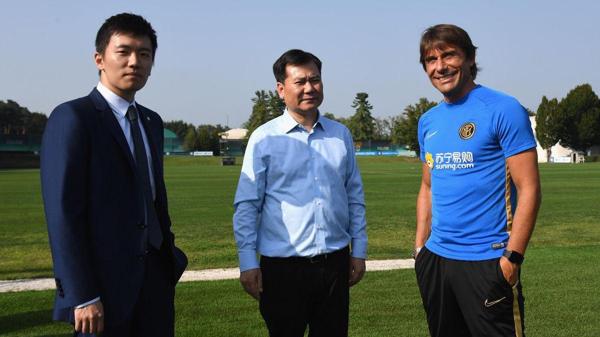 Zhang Jindong, Steven Zhang e Antonio Conte, Inter, Getty Images
