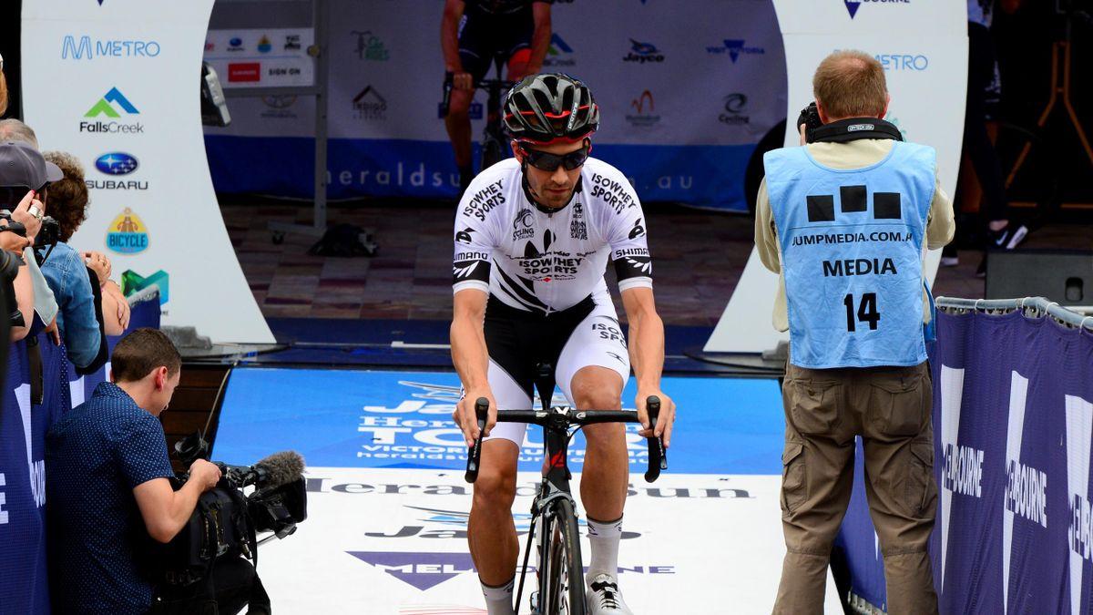 Joe Cooper at the Tour of Hainan (Neil Walker / IsoWhey Sports-SwissWellness p/b Cervélo)