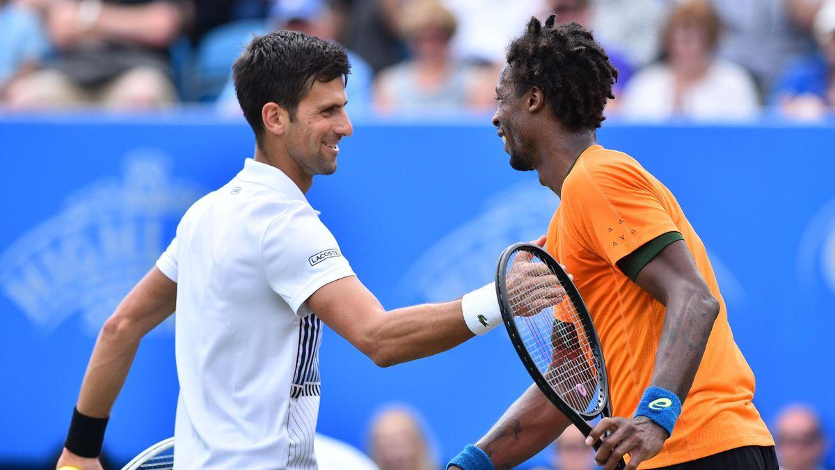 Novak Djokovic a facilement remporté la finale à Eastbourne contre Gaël Monfils (2017).