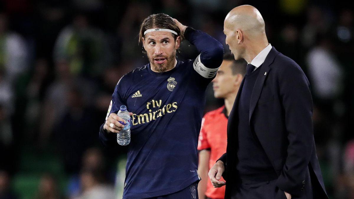 Sergio Ramos (l.) und Zinédine Zidane