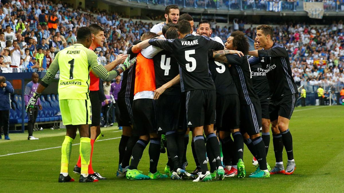 Real Madrid celebrate title.