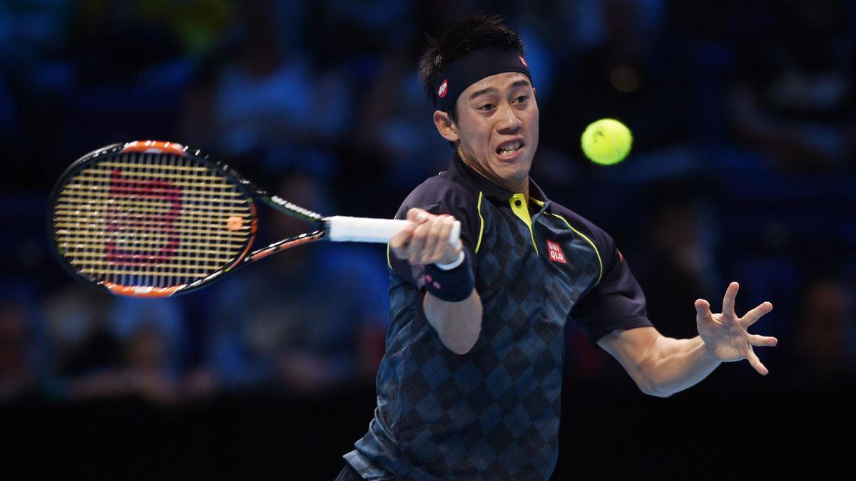 Le Japonais Kei Nishikori lors du Masters 2015