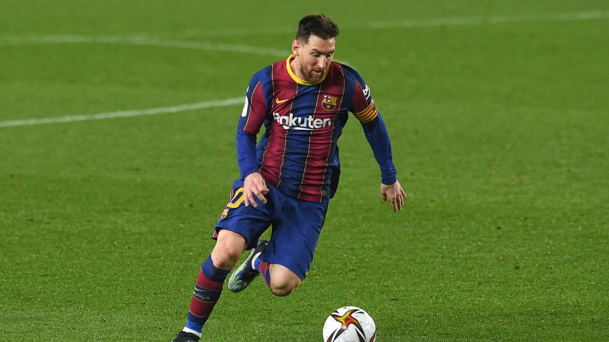 Lionel Messi (FC Barcelona) am Ball