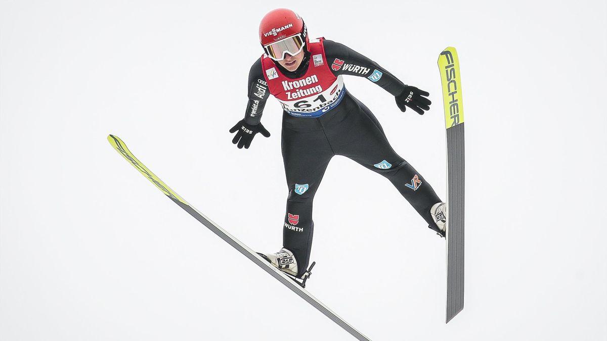Katharina Althaus beim Weltcup in Hinzenbach 2021