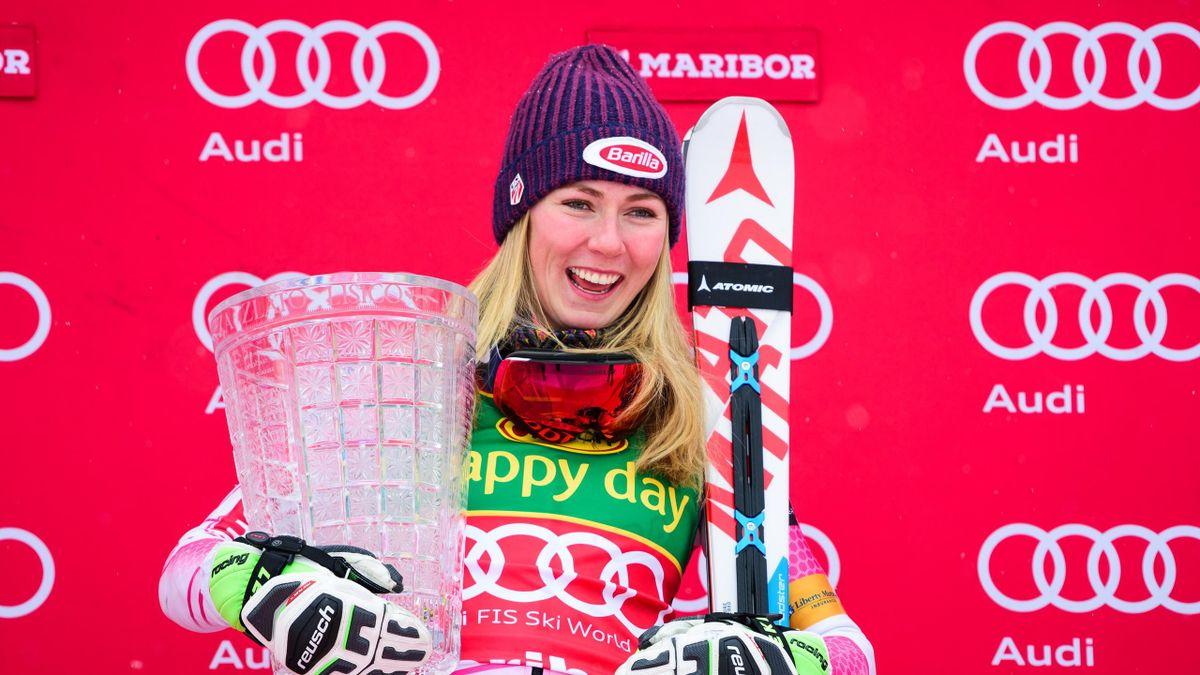 Mikaela Shiffrin vainqueur du slalom à Maribor le 8 janvier 2017