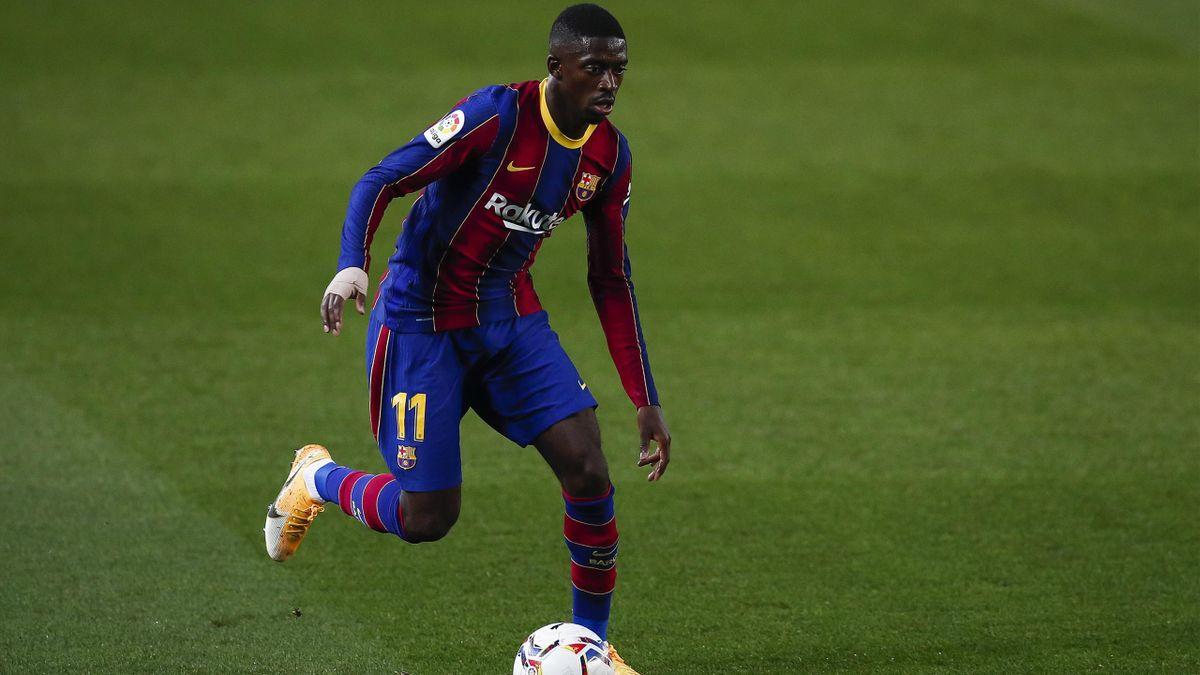 Ousmane Dembélé, l'ailier du FC Barcelone.