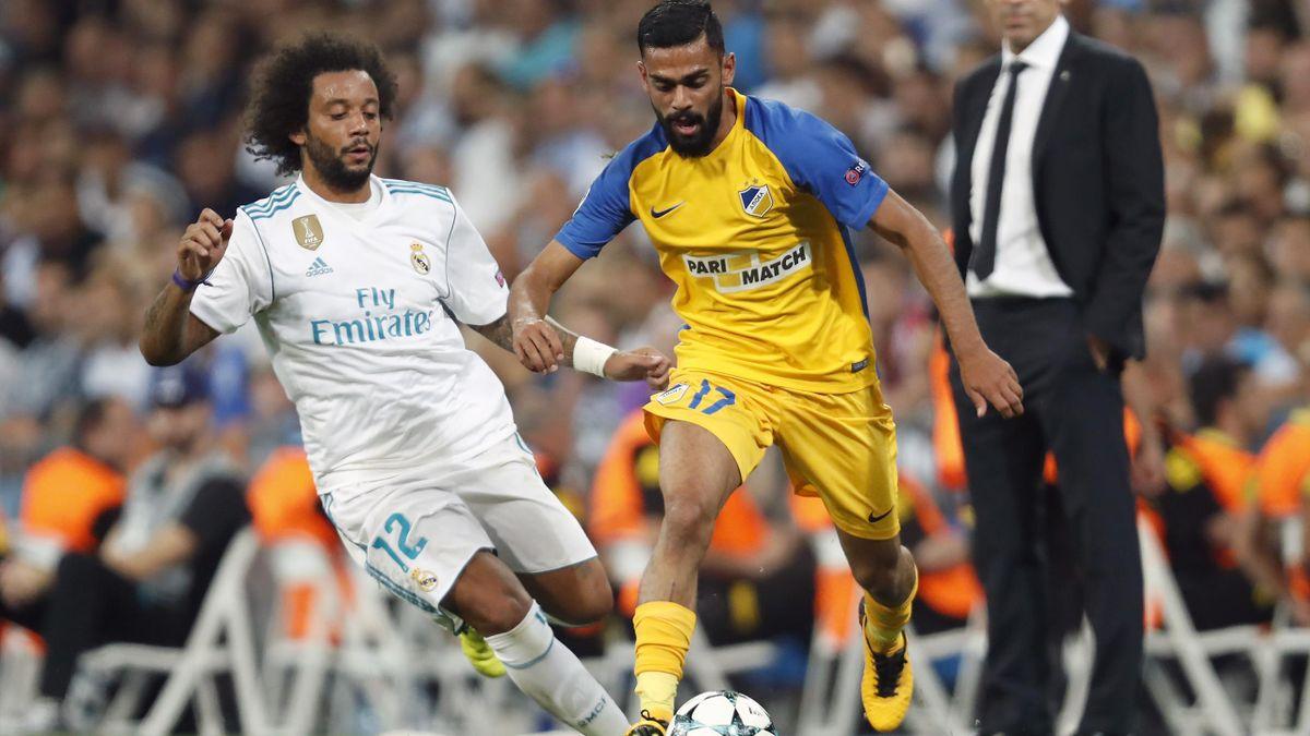 Ghayas Zahid møtte Marcelo og Real Madrid i Champions League i 2017.