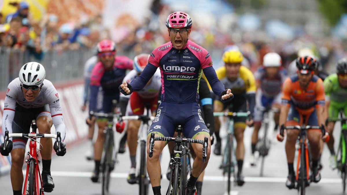 Sacha Modolo (Lampre-Merida) gewinnt die 13. Giro-Etappe