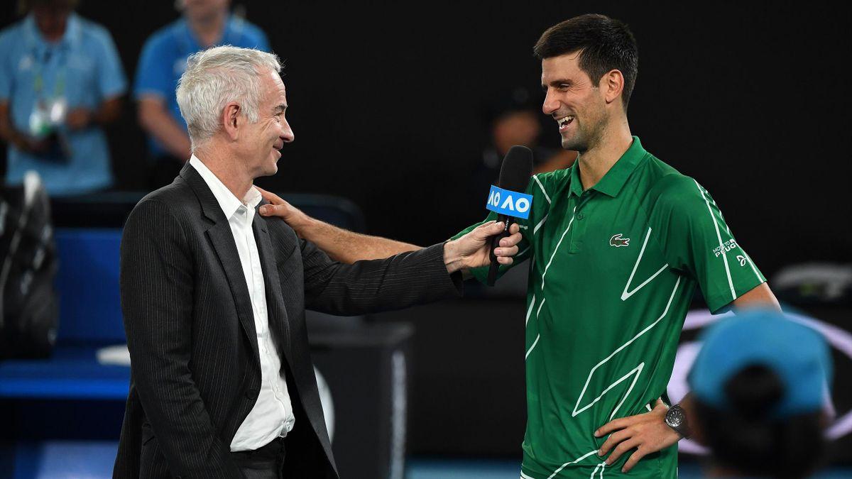 John McEnroe & Novak Djokovic