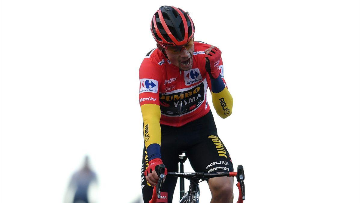 Primoz Roglic à La Covatilla sur la 17e étape de la Vuelta 2020