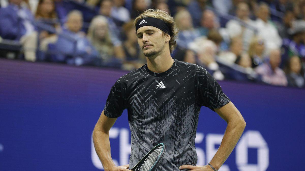 Alexander Zverev im Halbfinale der US Open 2021 gegen Novak Djokovic
