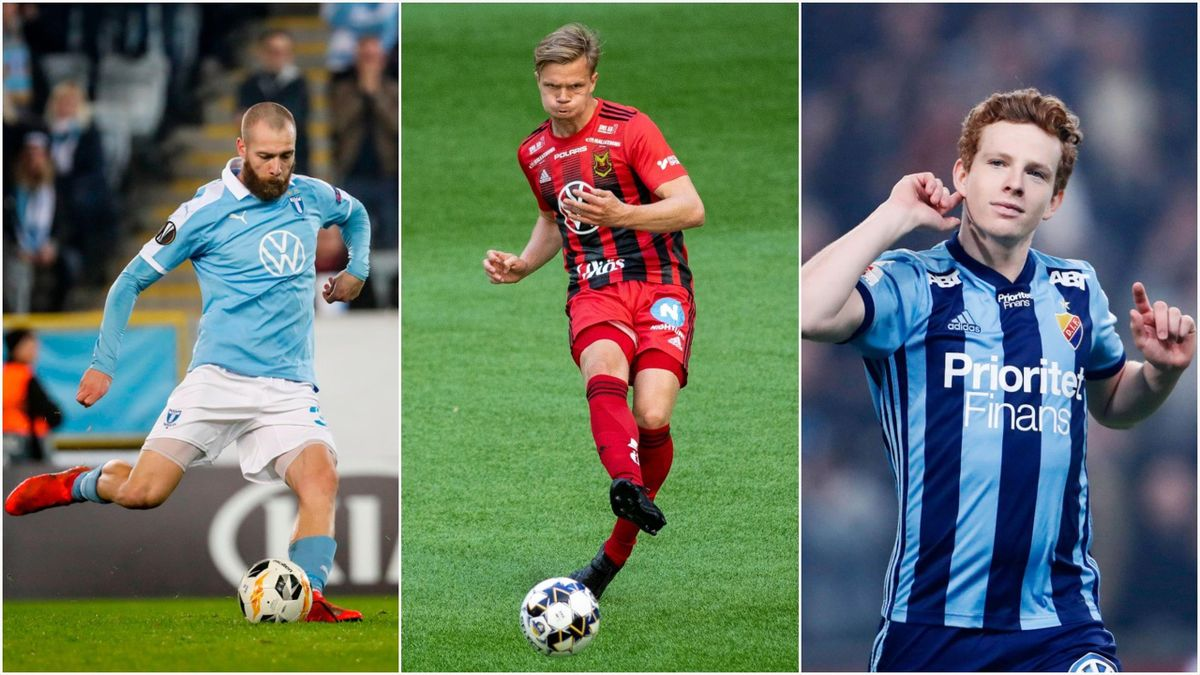 Jo Inge Berget (Malmö), Eirik Haugan (Östersund) og Aslak Fonn Witry (Djurgården).