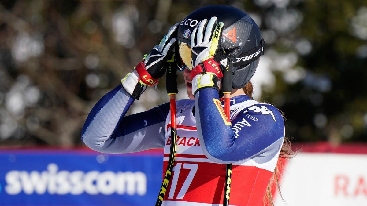 Sofia Goggia a pochissimi giorni dall'inizio dei Mondiali di Cortina sarà costretta al forfait per un infortunio al piatto tibiale del ginocchio destro, Getty Images