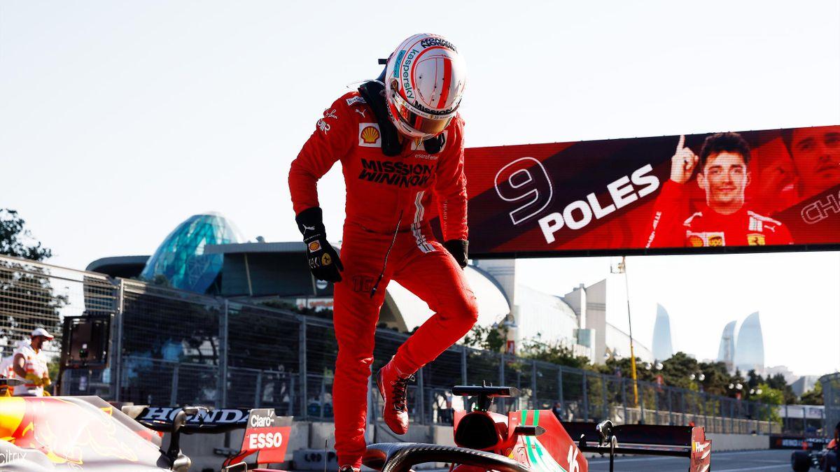 Charles Leclerc in Baku 2021