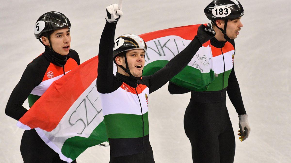 Shorttrack: Ungarn gewinnt Staffel-Gold