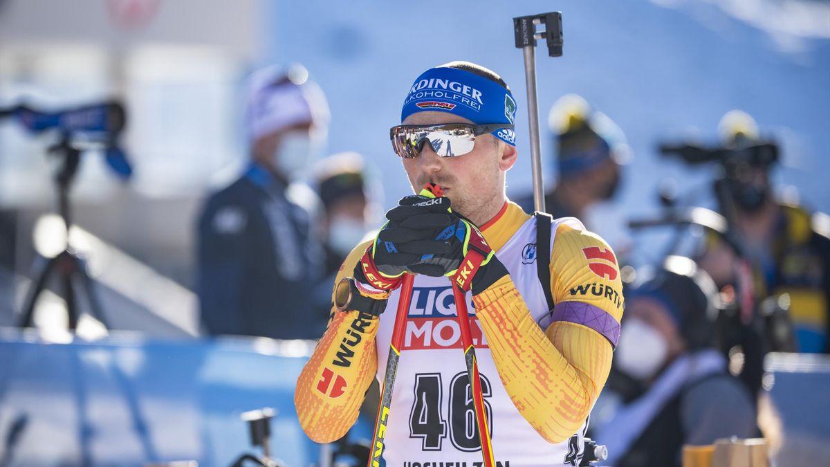 Erik Lesser in Hochfilzen