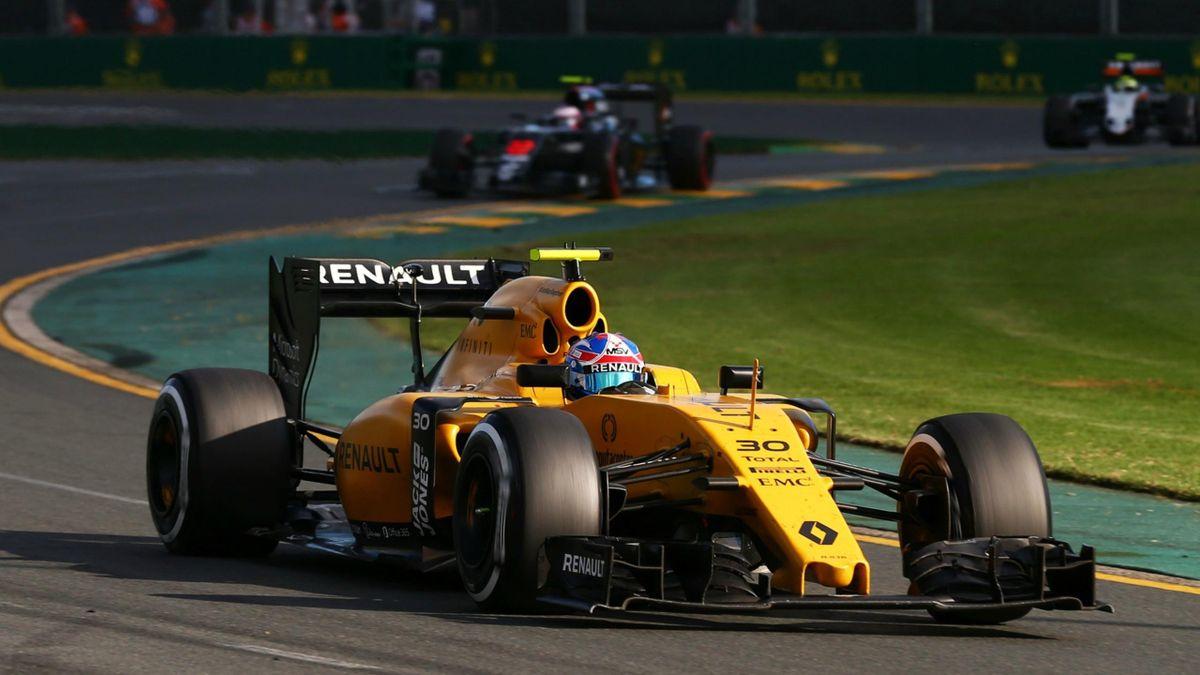 Jolyon Palmer (Renault) au Grand Prix d'Australie 2016