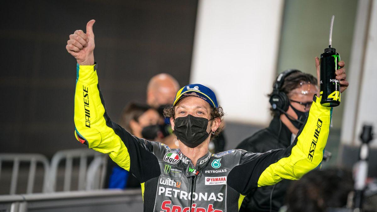 Valentino Rossi festeggia il 4° tempo alla prima uscita con Petronas in Qatar