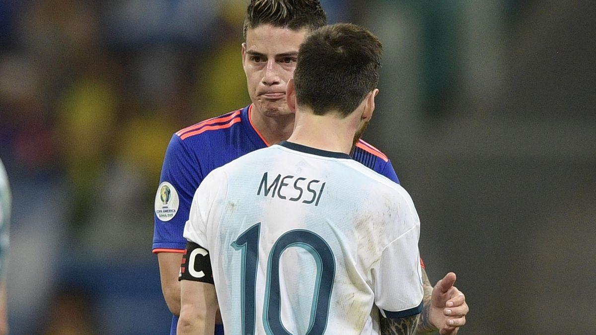 Lionel Messi și James Rodriguez