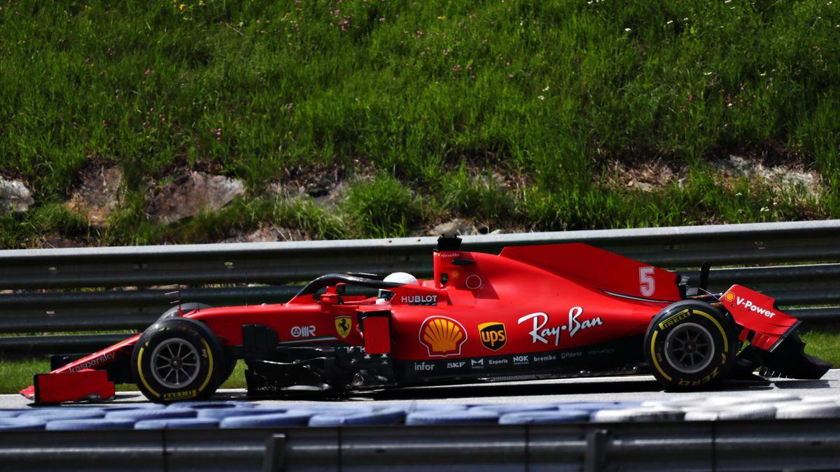 La monoplace de Sebastian Vettel (Ferrari) lors du Grand Prix de Styrie 2020