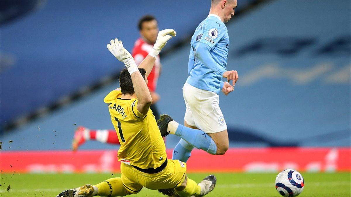 Foden, faultat clar în careu în City - Southampton 5-2