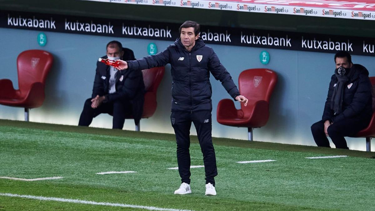 Marcelino Garcia Toral lors de Athletic Club - FC Barcelone en Liga le 6 janvier 2021