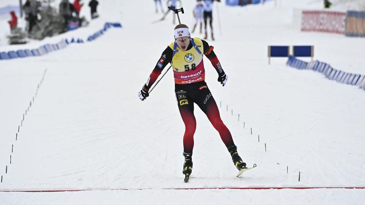 Johannes Boe sur le sprint d'Oberhof