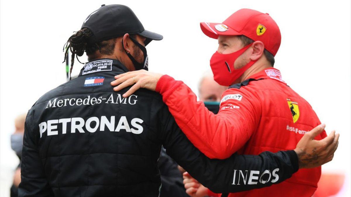 Lewis Hamilton e Sebastian Vettel - GP Turchia 2020