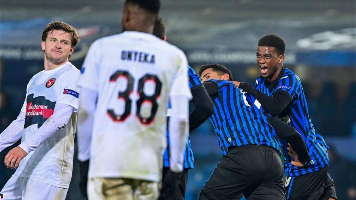 Atalanta-Midtjylland - Il gol di Romero
