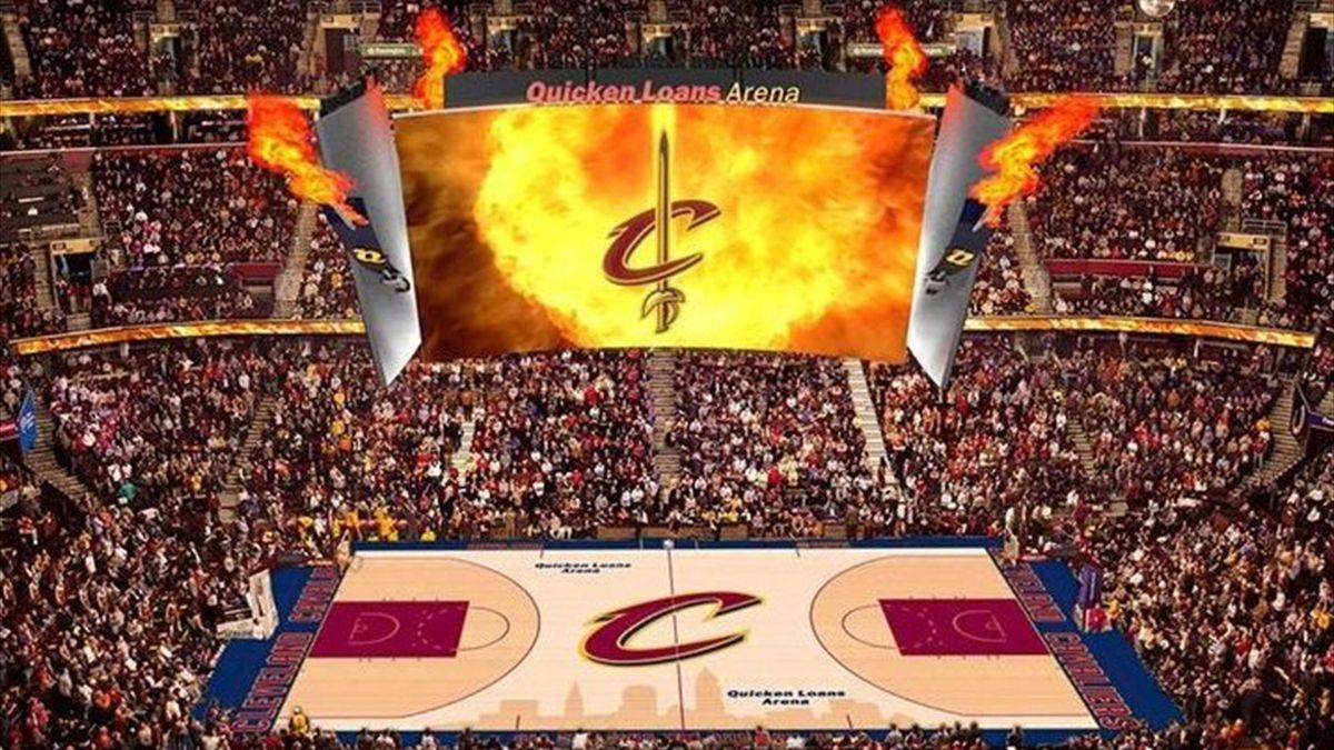 Videomarcador de los Cleveland Cavaliers