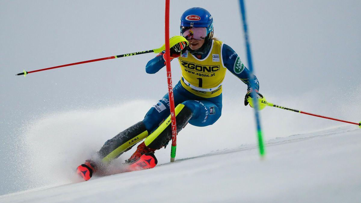 Mikaela Shiffrin beim Slalom in Levi 2020