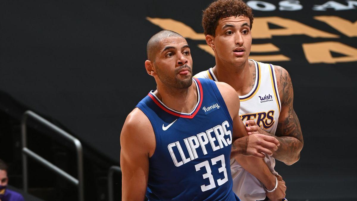 Nicolas Batum sous son nouveau maillot des LA Clippers.