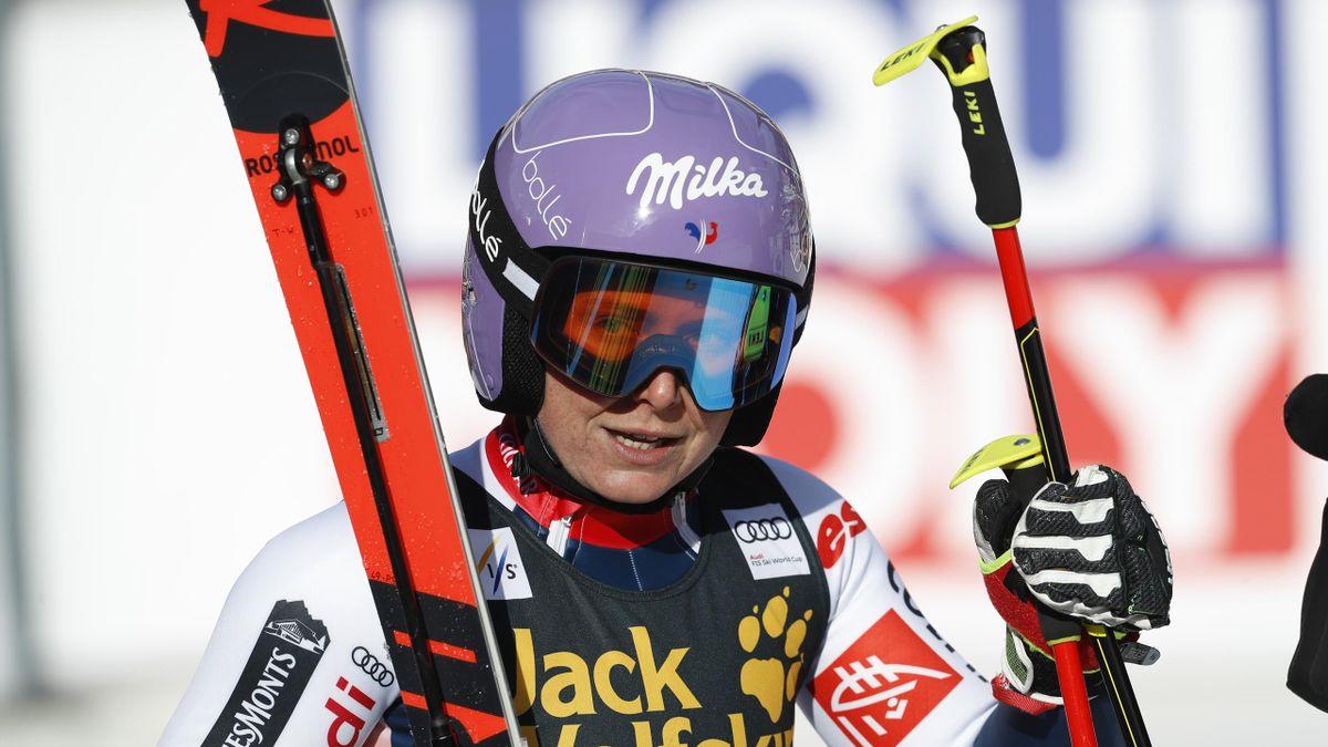 Tessa Worley (France) lors du slalom géant de Sölden pendant la Coupe du monde 2020-2021.