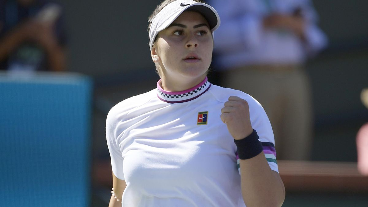 Bianca Andreescu saw off Garbine Muguruza with ease at Indian Wells