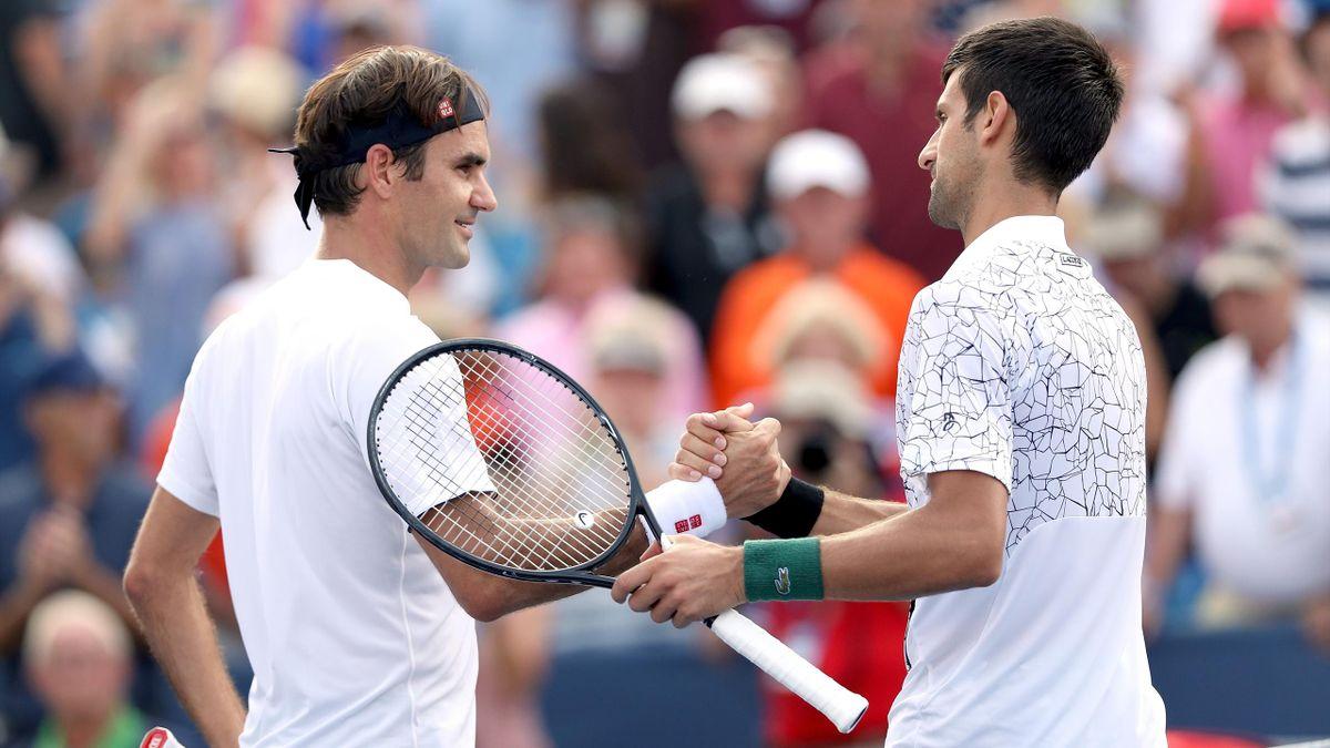 Roger Federer et Novak Djokovic