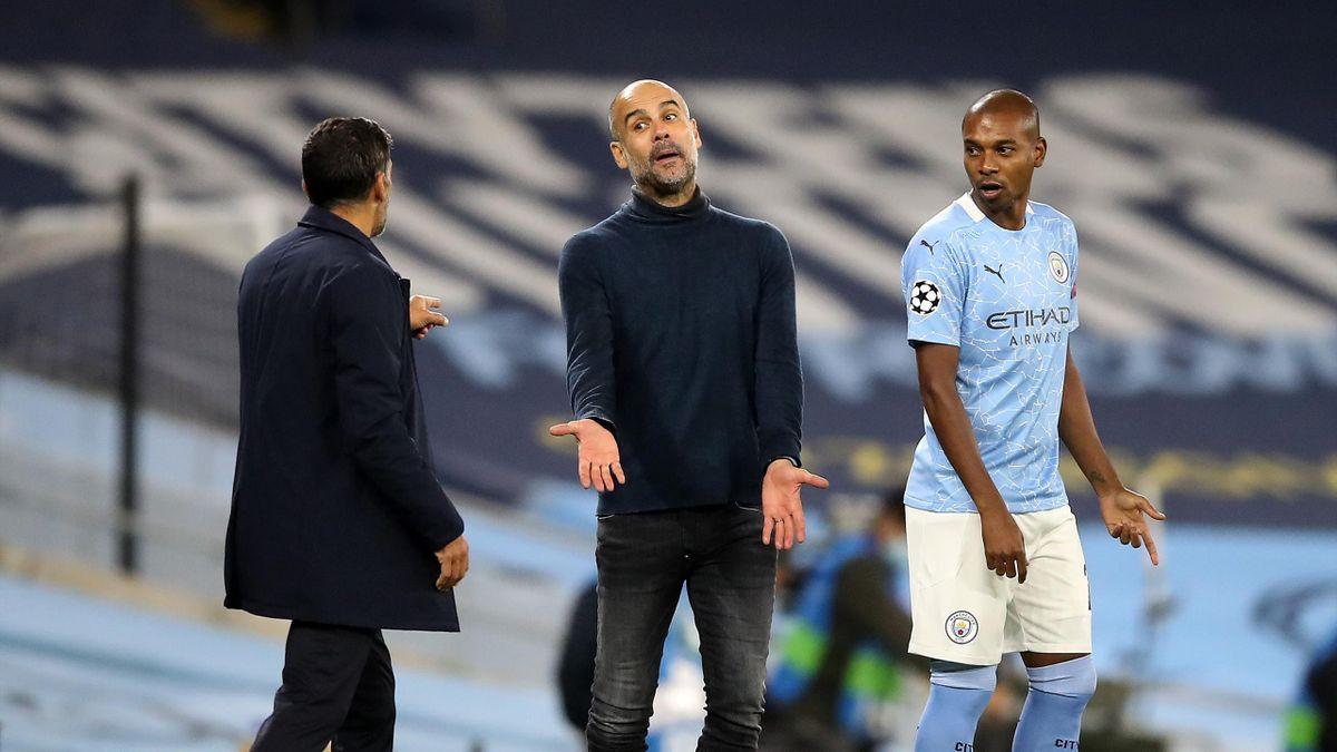 Сержиу Консейсау, Пеп Гвардиола и Фернандиньо, «Манчестер Сити» – «Порту»
