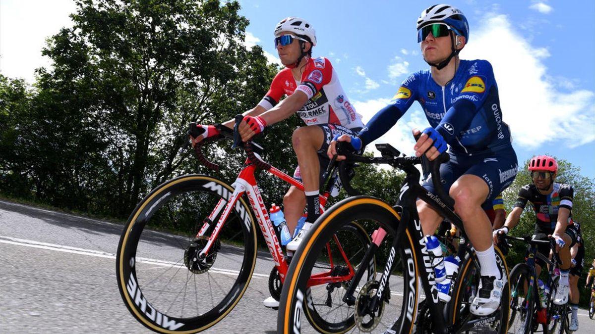 Simon Pellaud con Remco Evenepoel - Giro d'Italia 2021