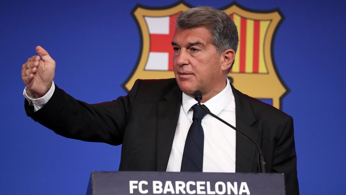 Barça-Präsident Joan Laporta droht der UEFA in der Super-League-Debatte
