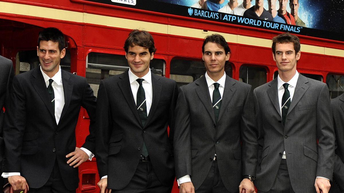 Novak Djokovic, Roger Federer, Rafael Nadal and Andy Murray