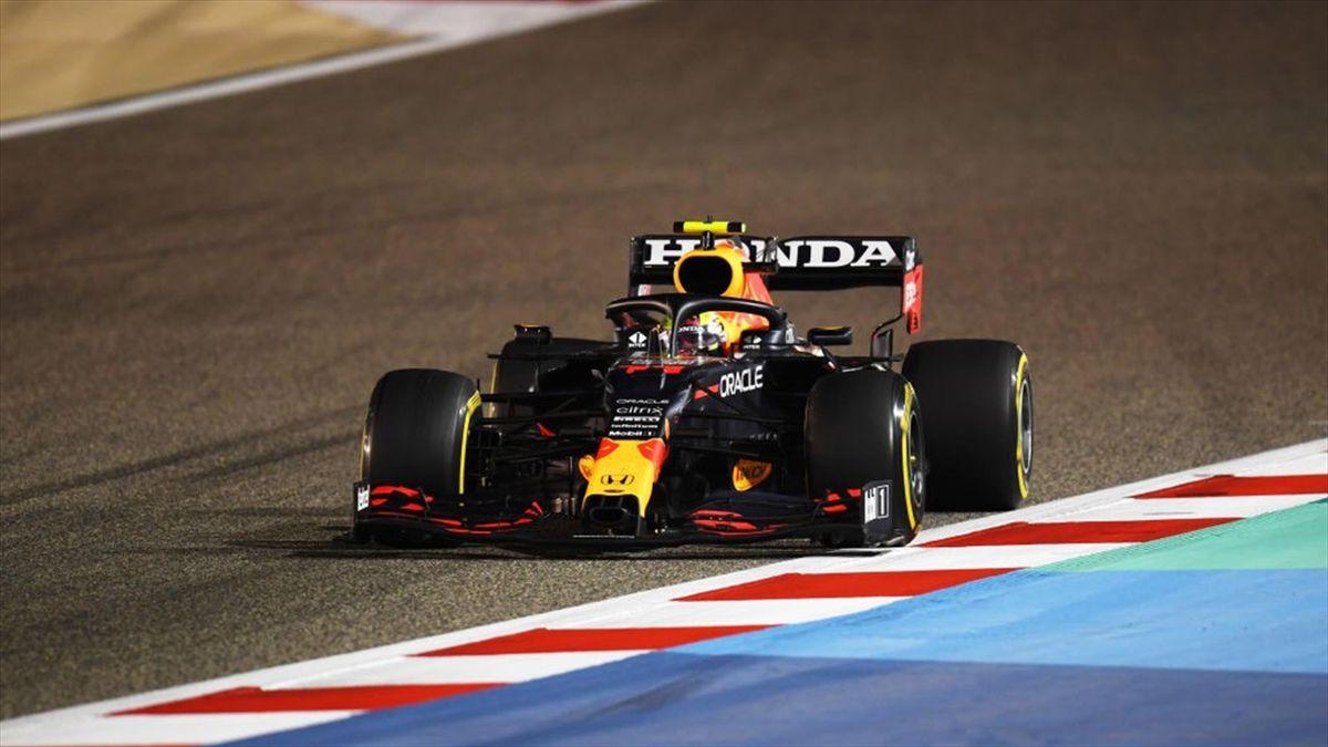 La Red Bull di Sergio Perez durante il GP del Bahrain di Formula 1 - Mondiale 2021