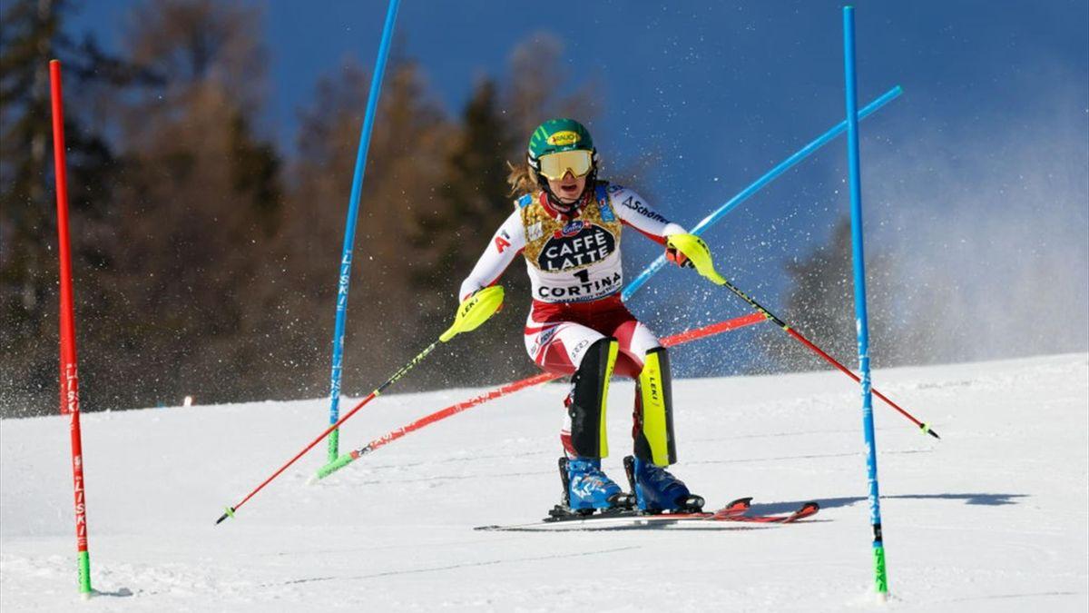 Katharina Liensberger ist neue Slalom-Weltmeisterin