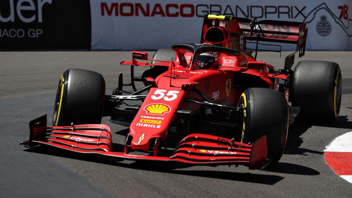 Carlos Sainz (Ferrari) in Monaco