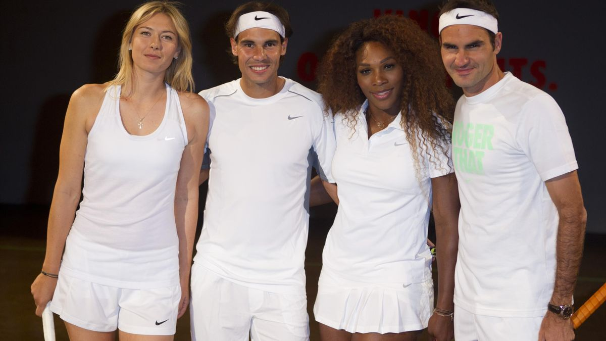 Maria Sharapova & Rafael Nada & Serena Williams & Roger Federer
