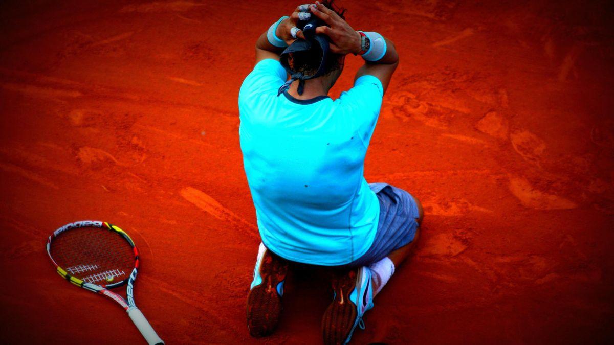Rafael Nadal le jour de son 9e titre à Roland-Garros, en 2014.
