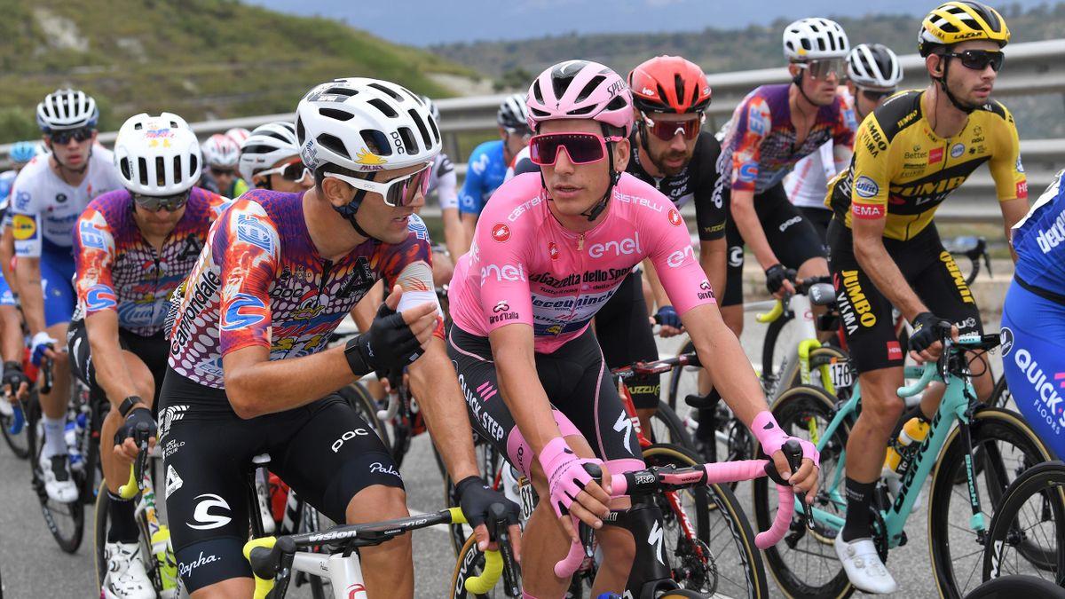 Ruben Guerreiro of Portugal and Team EF Pro Cycling / Joao Almeida of Portugal and Team Deceuninck - Quick-Step