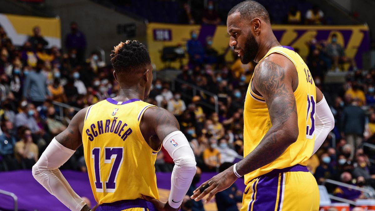 Dennis Schröder und LeBron James bei den NBA-Play-offs 2021